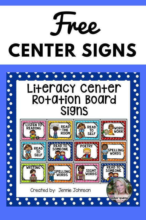 Free Center Signs Are you implementing literacy centers into your literacy block? Use these engaging cards to teach students where to go and what to do during their center time. Included are the following center cards: Read to Self Read to Someone Listen to Reading Read the Room Poetry Sight Words Spelling Words iPads Writing Word Work Teacher ... Read More about Free Center Signs The post Free Center Signs appeared first on Classroom Freebies.