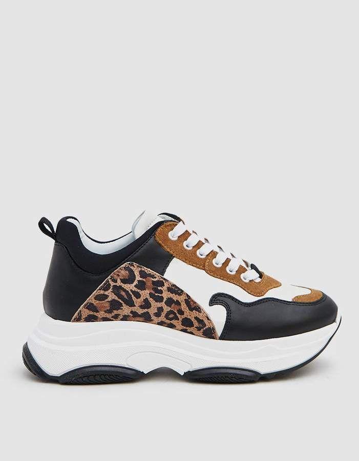 Just Female Milan Sneaker in Leopard