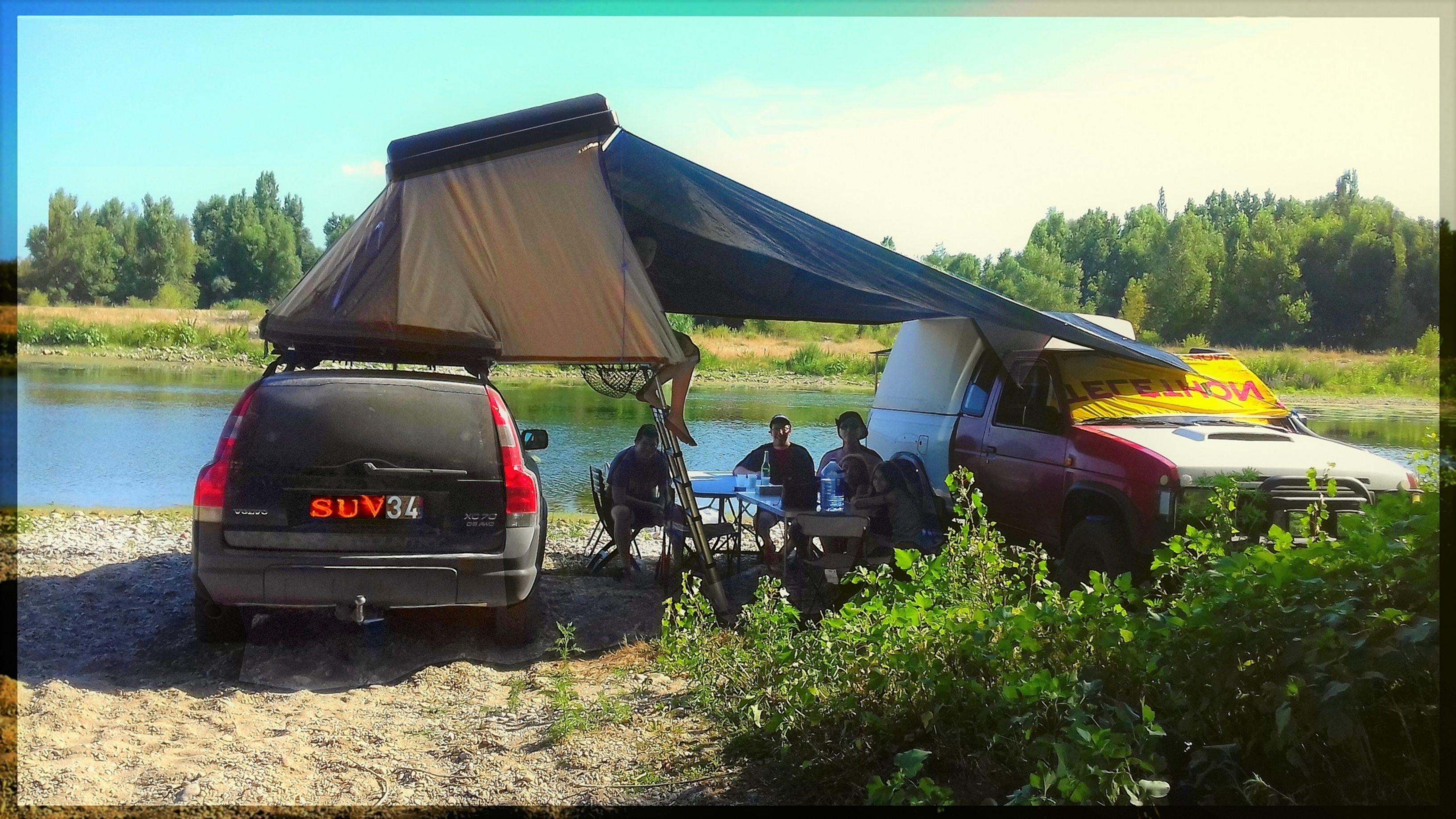 week end rivière Gardon 30  c&ing c& Hussarde Quatro rooftop tent tente · Nissan NavaraWeek ... & week end rivière Gardon 30  camping camp Hussarde Quatro ...
