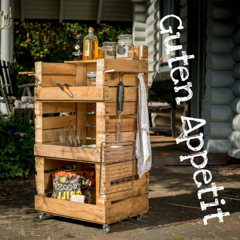 Grill Beistelltisch Aus Holzkisten Bauen Grill Beistelltisch Holzkiste Bauen Holzkisten