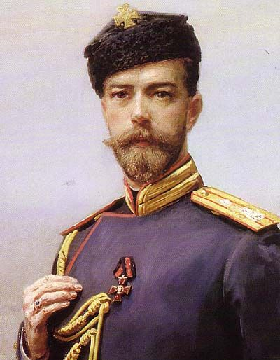 tsar nicholas ii wearing the uniform and service hat of the russian