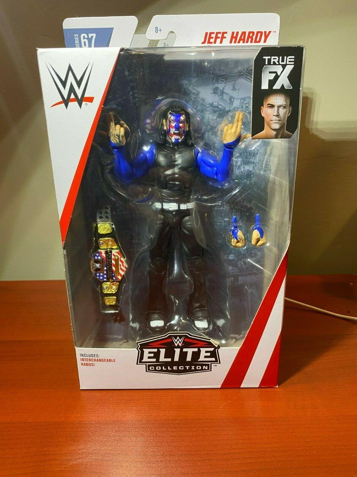 Mattel Wwe Elite Series 67 Jeff Hardy Chase Variant Blue