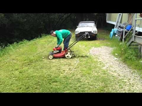 Finally an inexpensive Hill, Slope, Steep Lawn Mower  - YouTube