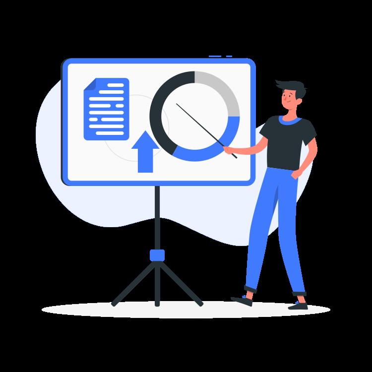 Presentation By Freepik Stories Svg Png Illustration Speech Data Information Stats Presentation Explain Website Illustration Presentation Illustration