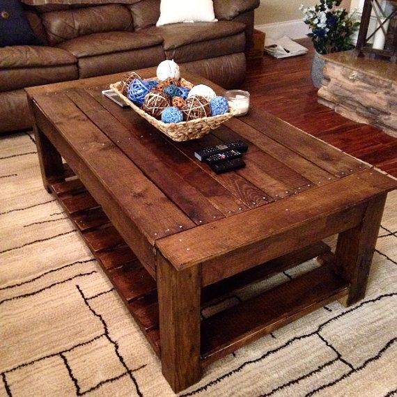 Rustic Wood Pallet Coffee Table By Woodlodge On Etsy Pallet Wood