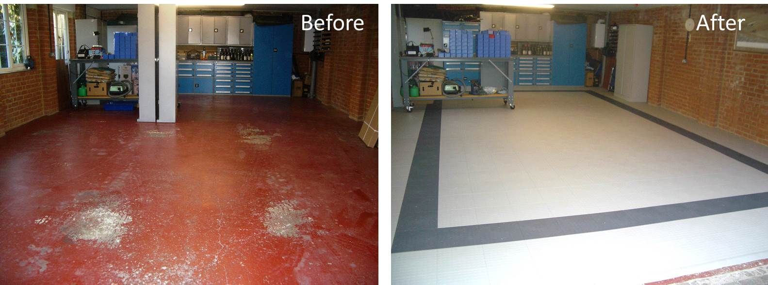 This before and after shot shows just how spectacular installing our this before and after shot shows just how spectacular installing our floor tiles can make your dailygadgetfo Images