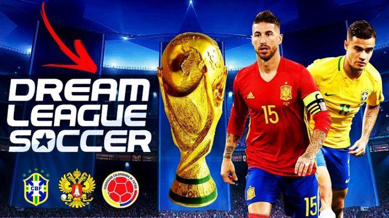Dream League Soccer 2018 World Cup Russia For Android Download 768x432 Jpg 768 432 Pixel Jogos De Futebol Copa Do Mundo Futebol