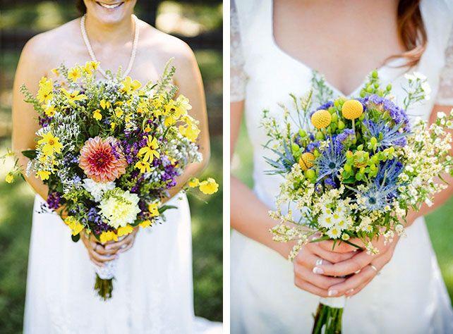 Свадебный букет невесты из полевых цветов 81