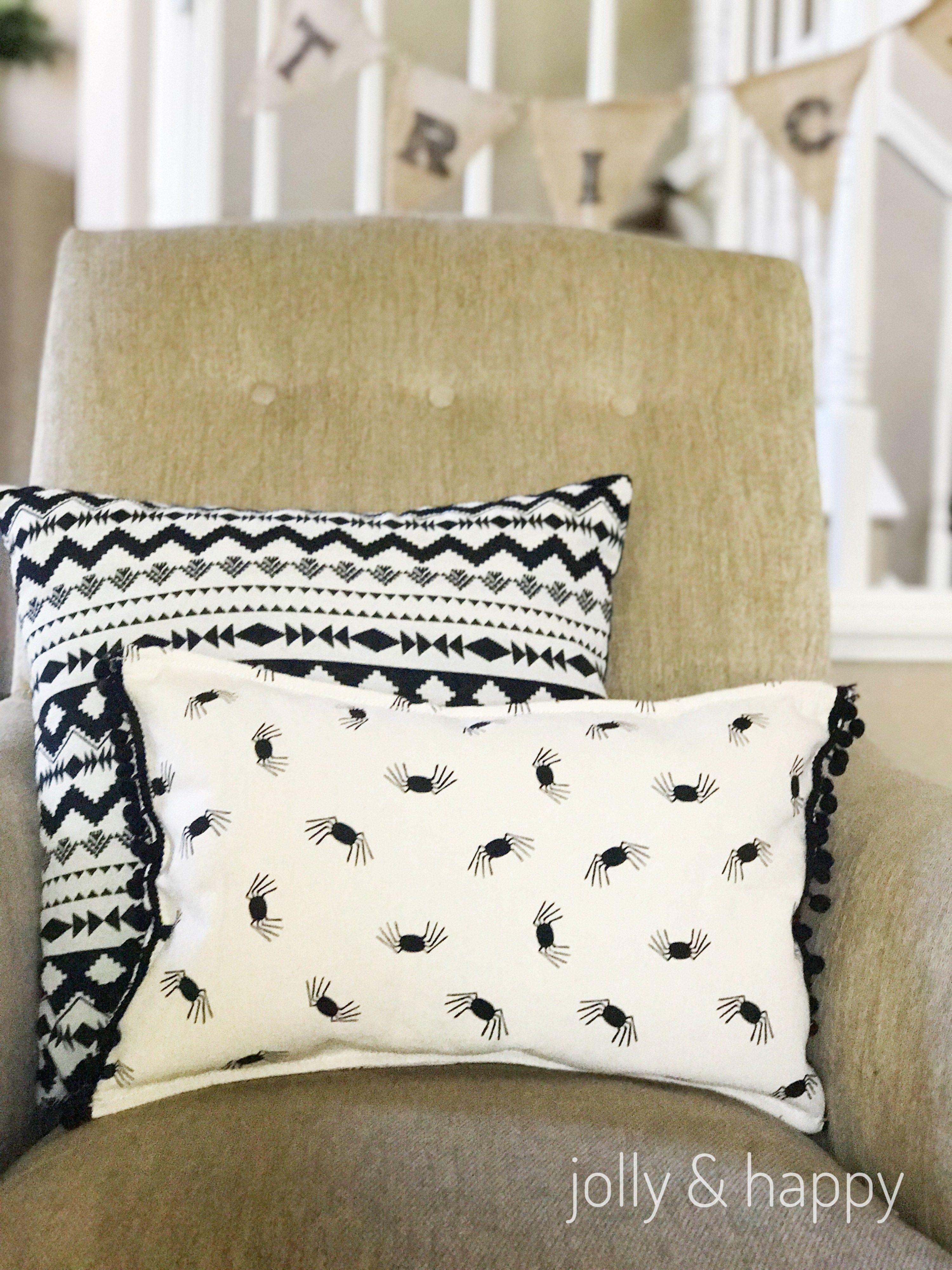 Target Dollar Spot Upcycle Halloween Throw Pillow (With
