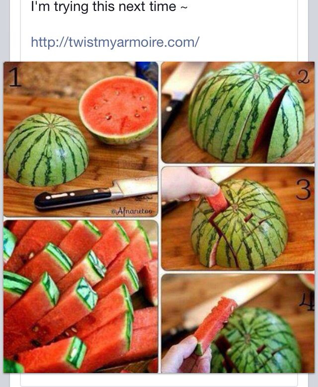 Watermelon slicing idea