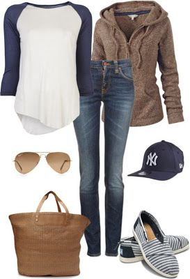 cb1c71d5f58 Love everything bu the yankees hat. LOLO Moda  Trendy women outfits 2013. I  would wear ...