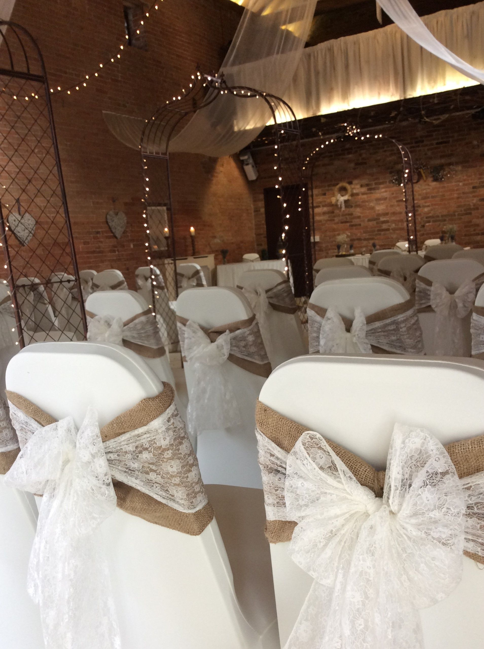 Wedding Chair Covers Yeovil Lift Chairs For Elderly Simple But Effective Hessian And Lace Sashes In A Beautiful Autumn Ceremony