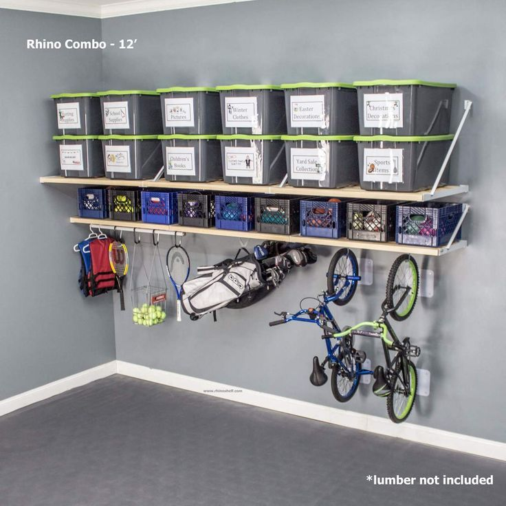 Bike Storage Wall Ideas For Those Biking Lovers Who Live In A Tiny Flat Or Just Don T Have Enough Space To Sto Rangement Garage Decoration Garage Design Garage