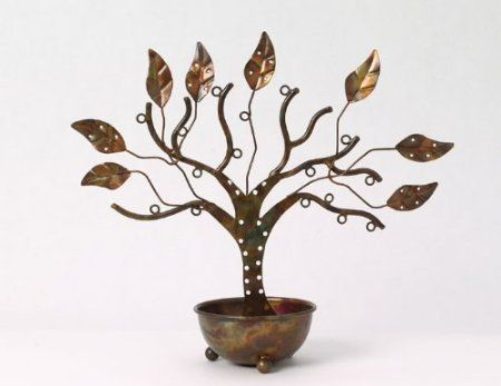 Amazon.com: Jewelry Tree Stand with Large Bowl for Earrings, Necklaces, and Bracelets - Ancient Graffiti: Home & Kitchen