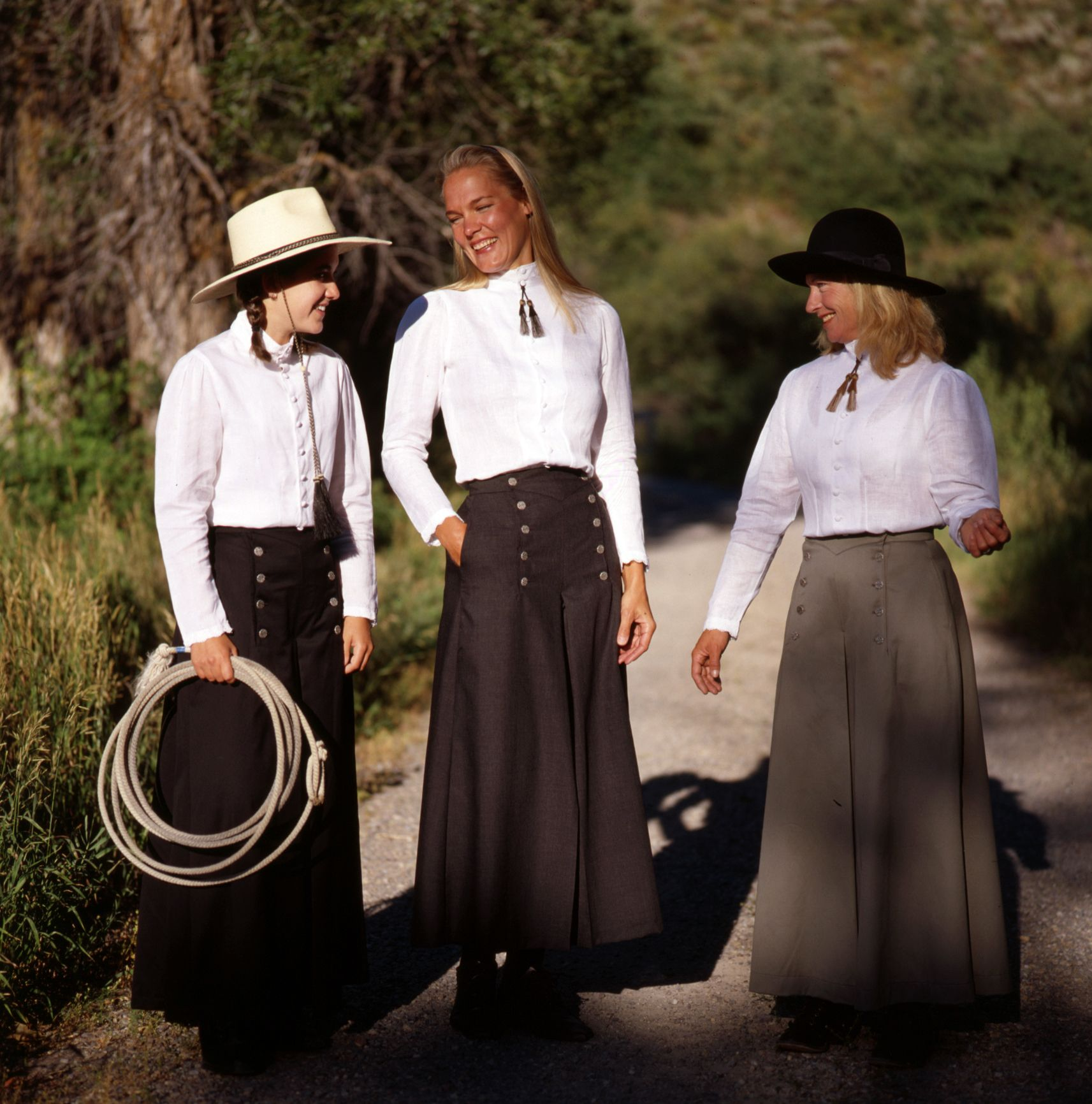 Classic Western Clothing Split Riding Skirts Made In Usa