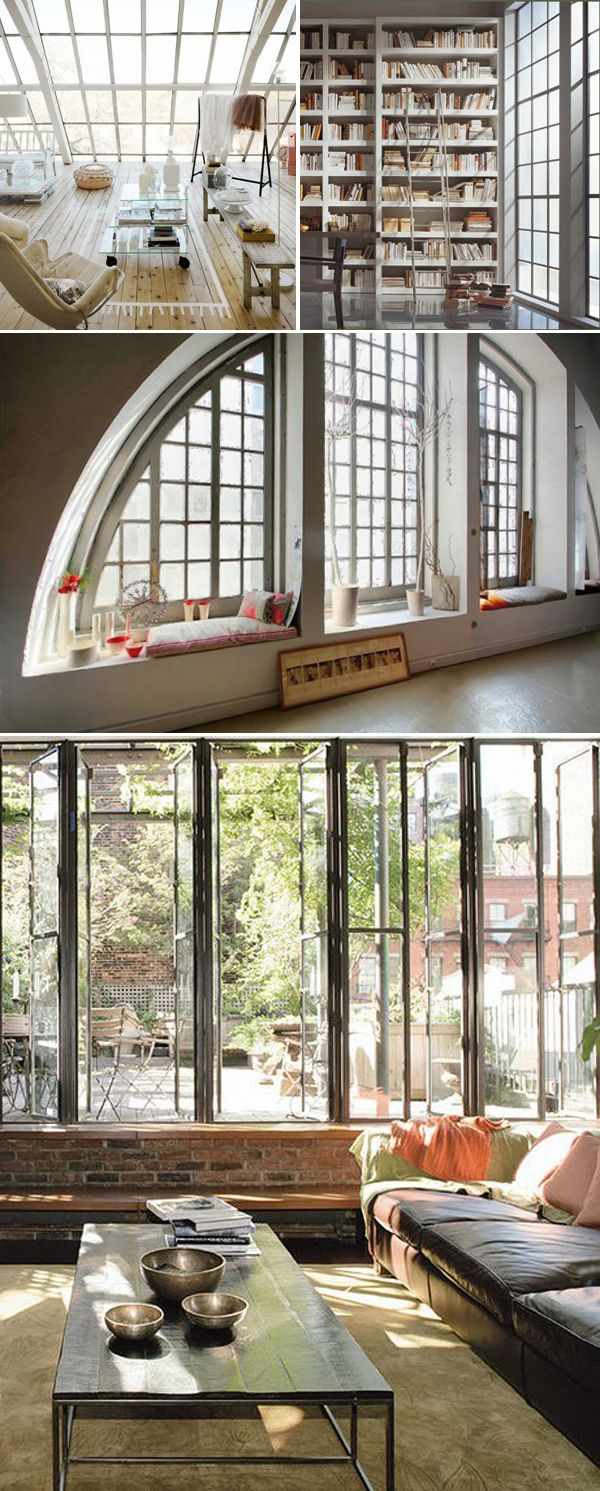 Industrial Style Windows Love The Rounded One Industrial House Home Design Decor Apartment Style