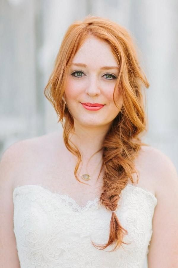 lovely and loose fishtail braid, perfect for a romantic night out @myweddingdotcom