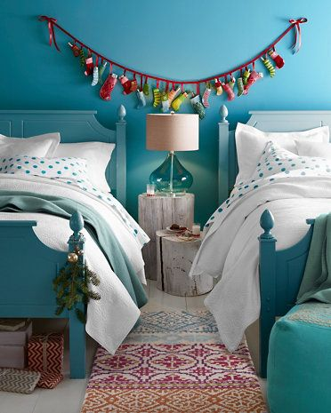 Love this room - Garnet Hill Nordic Fair Isle Rug and Mini-Felt ...