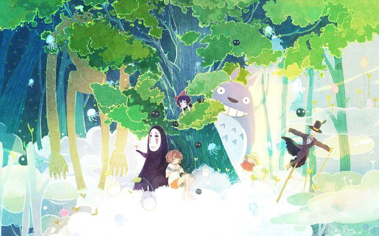 Studio Ghibli Fanart Wallpaper More Studio Ghibli Idea Not Them Studio Ghibli Ghibli Art Studio Ghibli Art