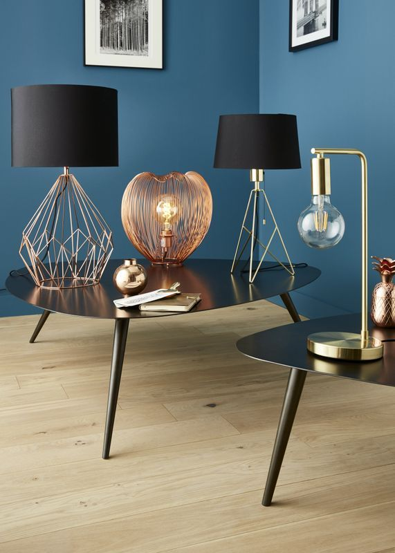lampe poser colours alika cuivre et noir luminaires en. Black Bedroom Furniture Sets. Home Design Ideas