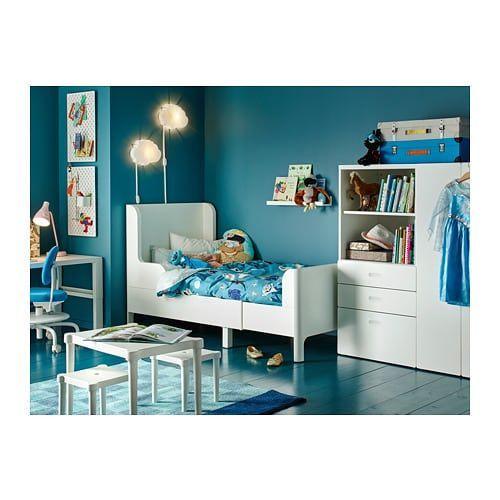 BUSUNGE Extendable bed, white white 38 1/4x74 3/4 #indischesschlafzimmer