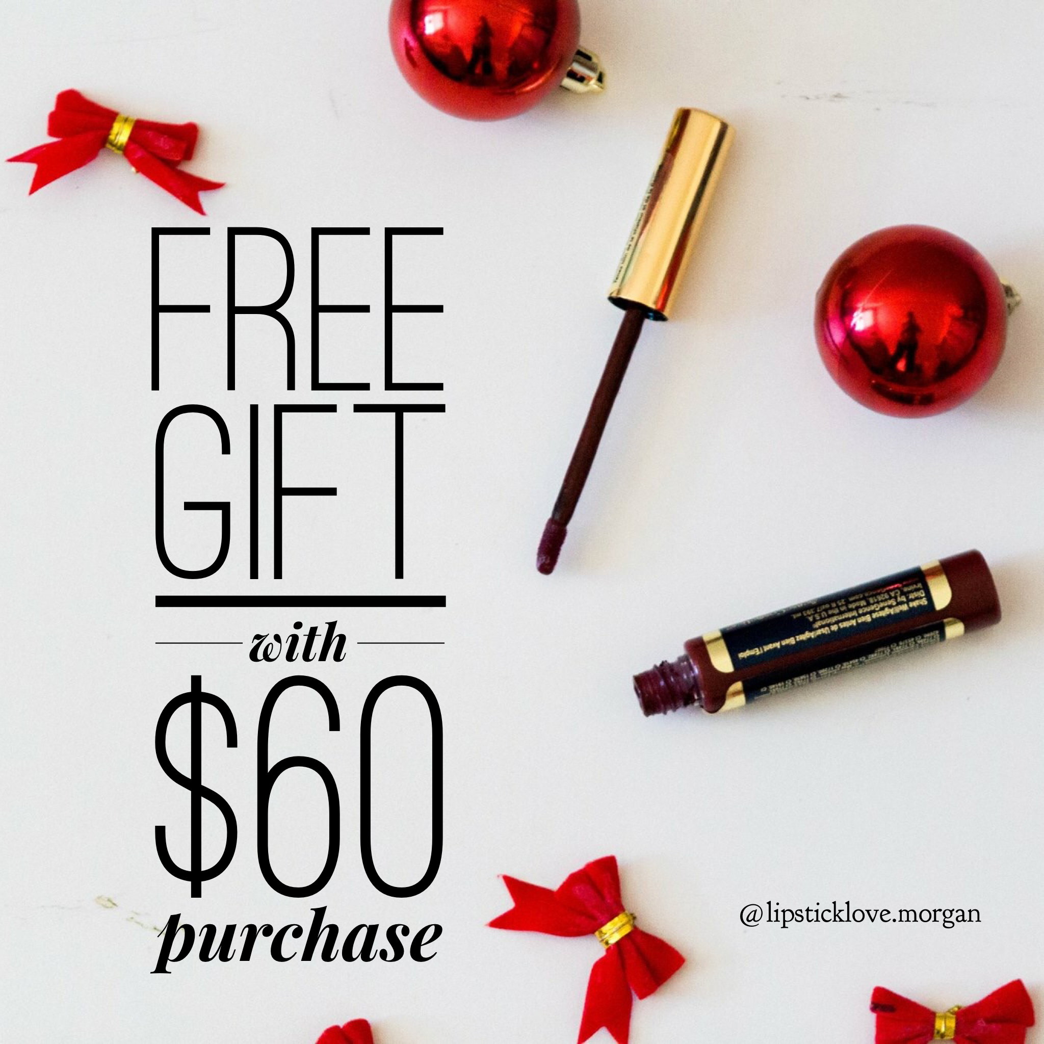 Free Gift Lipsense Lipstick Christmas Deals Black Friday Savings