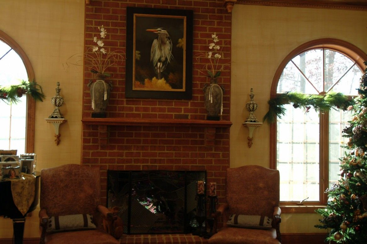 Brick fireplace mantel in red color cafmario compound pinterest