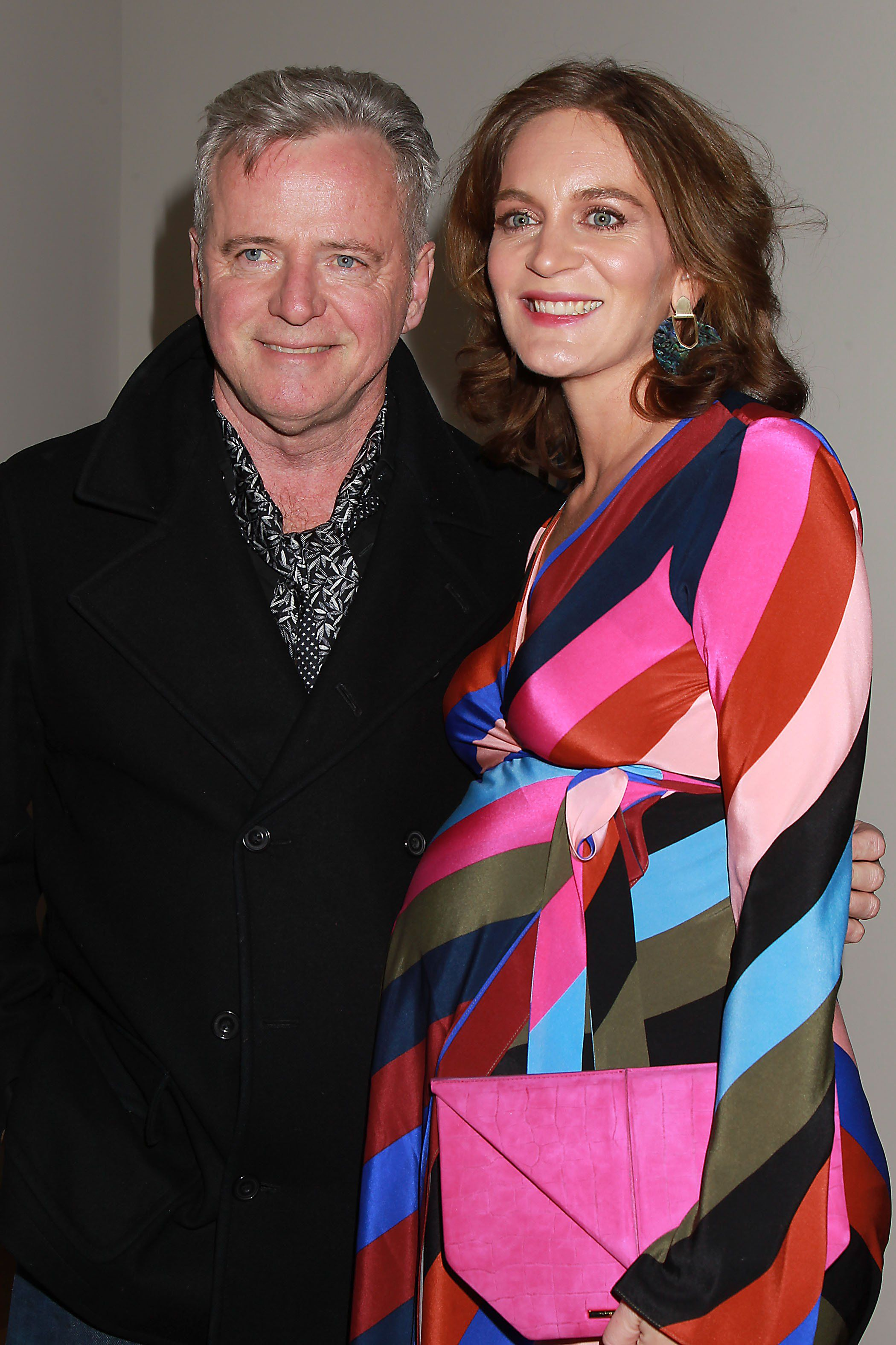Aidan Quinn and Felicity Blunt, wife of friend Stanley ...