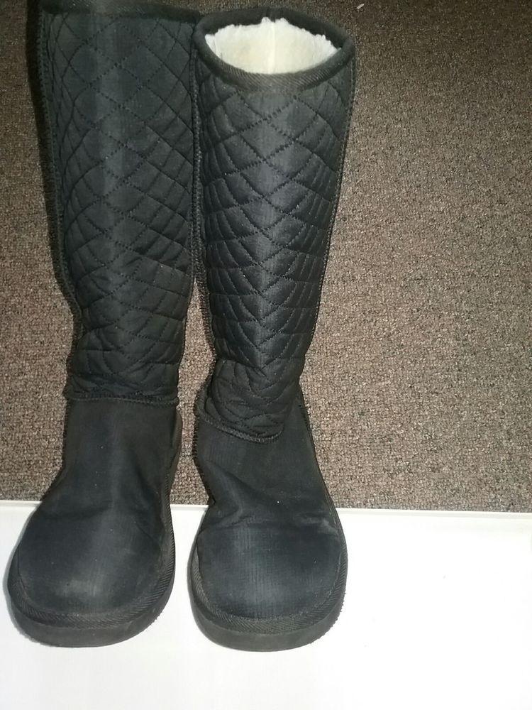 girls boots size 6 black #fashion