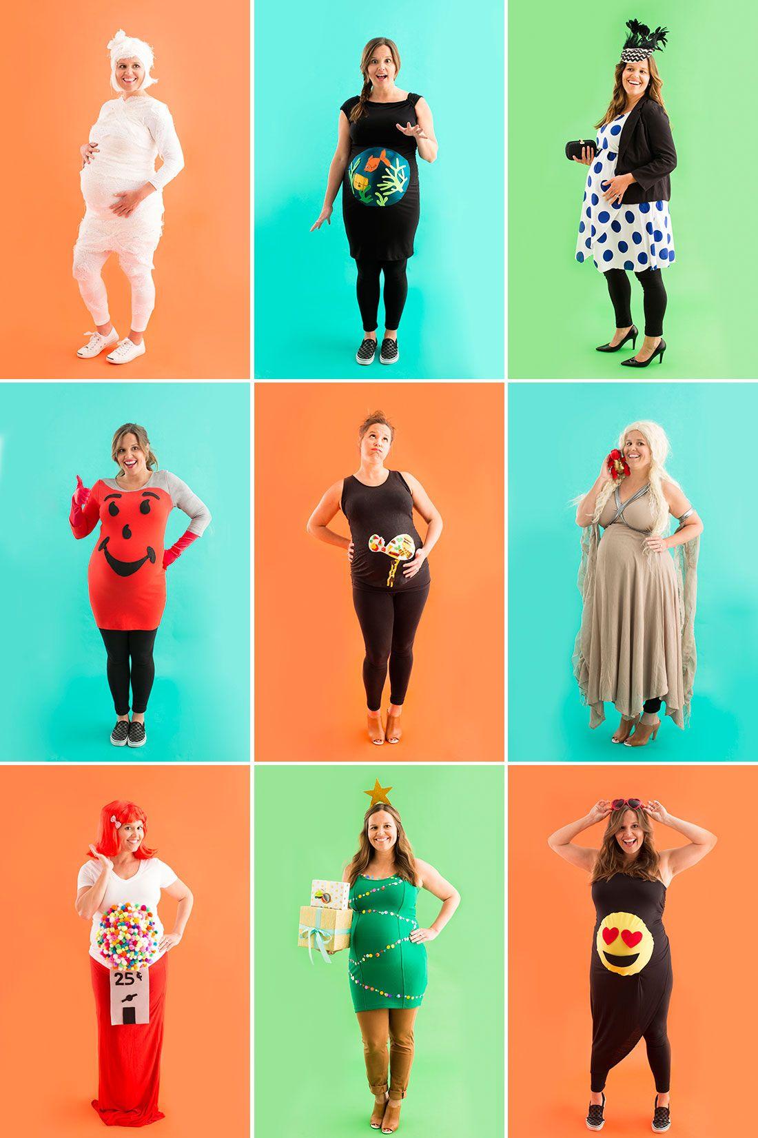 10 diy maternity halloween costume ideas for pregnant women via brit co - Maternity Halloween Costumes Pregnancy