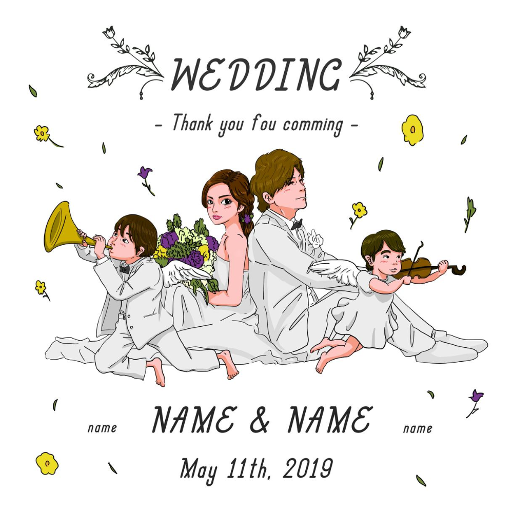 ウェルカムボードのイラストを制作いたします 結婚式用のイラストをデータでお渡しします 2020 結婚式のイラスト ウェルカムボード イラスト イラスト