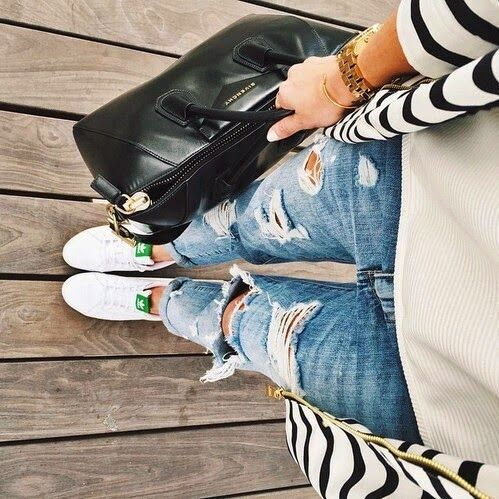 Spring Inspirations From Tumblr Stan Smith Outfit Fashion Adidas Stan Smith Green