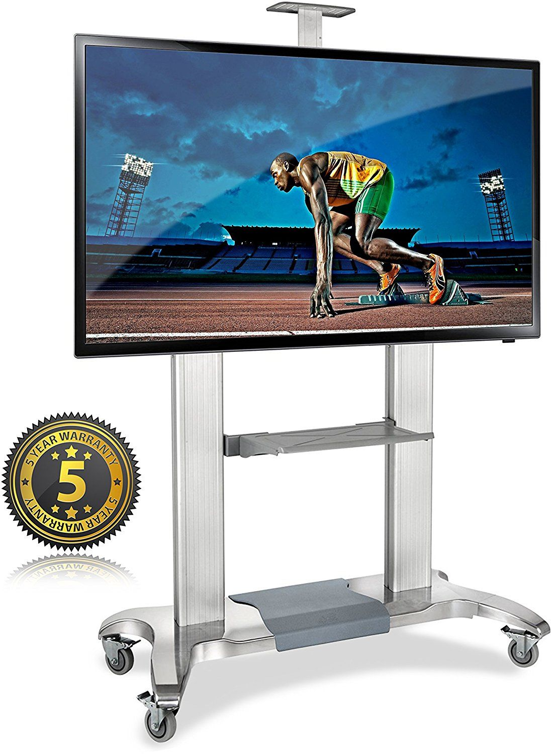 North Bayou Tv Cart Tv Stand With Mount For 60 100 Inch Flat Panel Screens Led Lcd Oled Plasma Displays Up To 300 Lbs Tv Stand Tv Cart Tv Stand With Mount 60 tv stand with mount