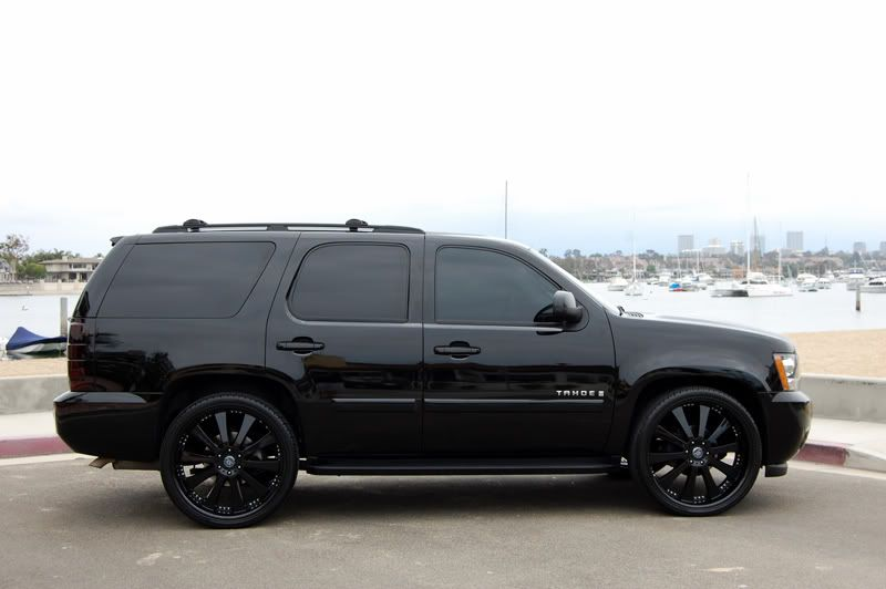 Black On Black Nice Chevy Tahoe Wheels Rims Goo Gl Dkxrbd Chevy Tahoe Chevrolet Tahoe Chevy