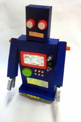 Robô De Sucata Como Fazer Um Para As Crianças Brincarem
