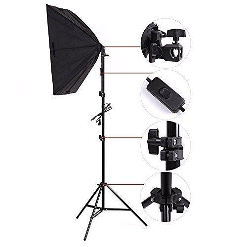 fotolampe amzdeal softbox set fotostudio studioleuchte inkl 2 x 50x70cm softboxen 5500k tageslicht 2x135w und faltbare lampenst fotolampen amazon