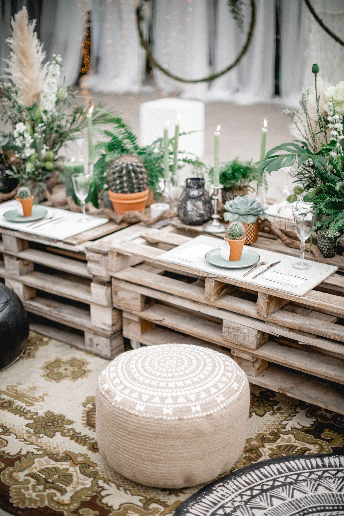 Urban Goes Green Brautshooting 2017 Tischdekoration Hochzeit I