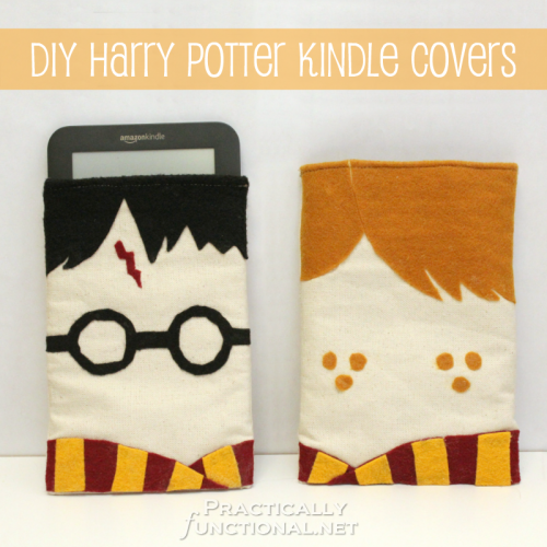 homemade harry potter decorations | DIY Harry Potter Kindle Covers! || Practically Functional