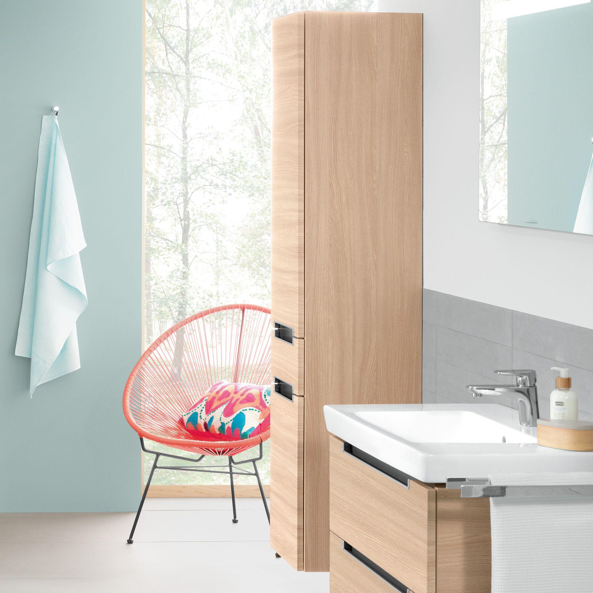 villeroy & boch subway 2.0 hochschrank mit 2 türen und 1 schublade, Badezimmer ideen