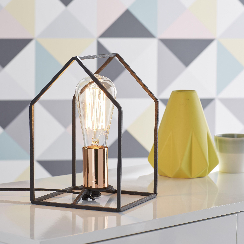 Lampe Home BRILLIANT métal noir 60 W leroymerlin lampe tendance