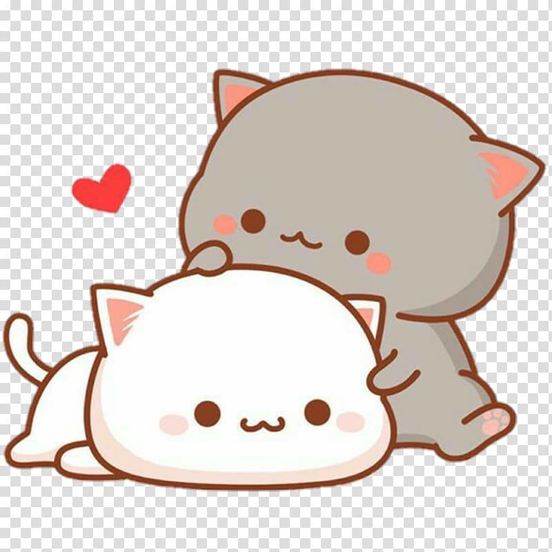 Macro Cat Drawing Sticker Cat Transparent Background Png Clipart Hiclipart Cartoon Cat Drawing Cute Cartoon Wallpapers Chibi Cat
