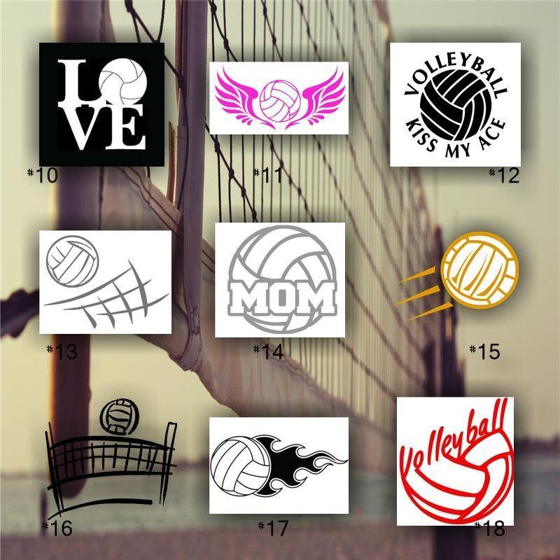 VOLLEYBALL Vinyl Decals Custom Car Window Stickers - Team window decals personalized