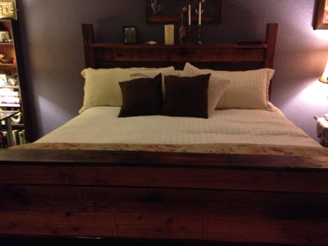 Bed from old barn wood our projects pinterest barn wood