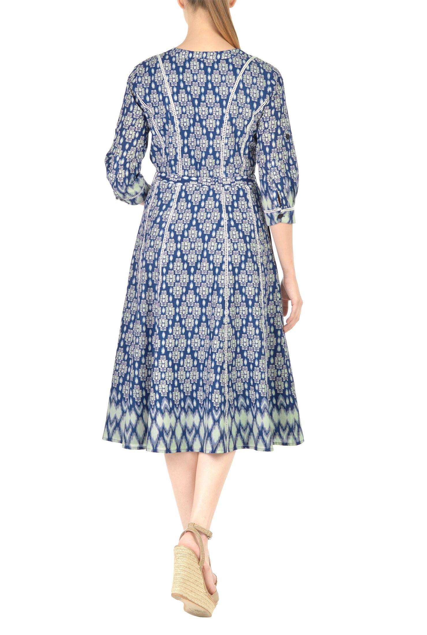 3 4 Sleeve Dresses Casual Dresses Cotton Dresses Feminine Dresses Flattering Dresses Graphic P Graphic Print Dress Flattering Dresses Women Dress Online [ 2200 x 1480 Pixel ]