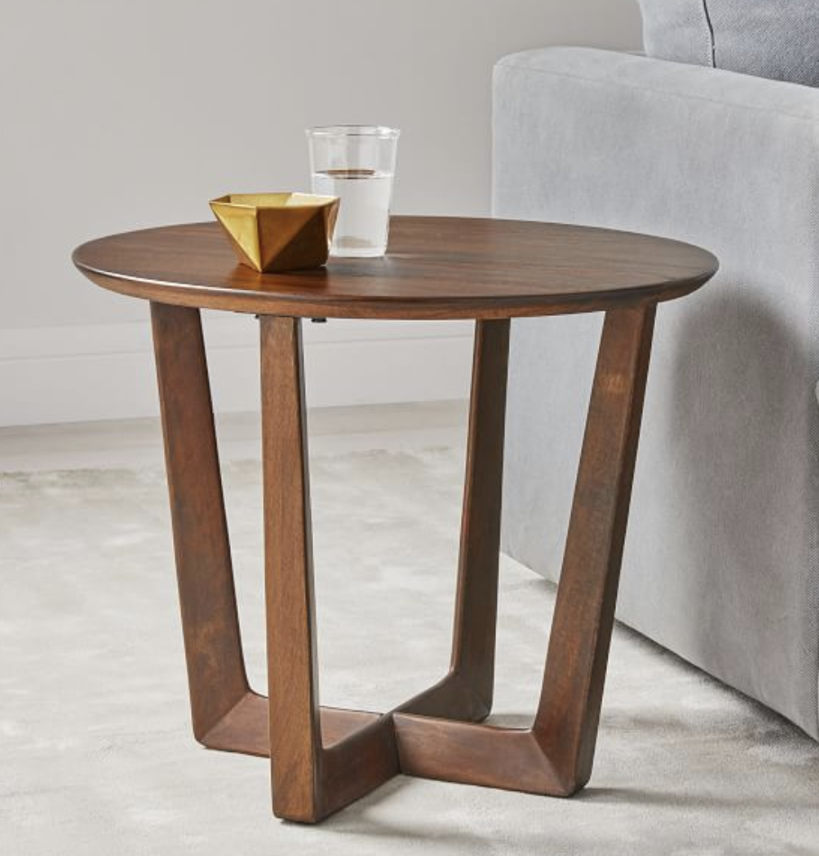 Stowe Side Table Round Wood Side Table Living Room Side Table Side Table Wood [ 948 x 908 Pixel ]