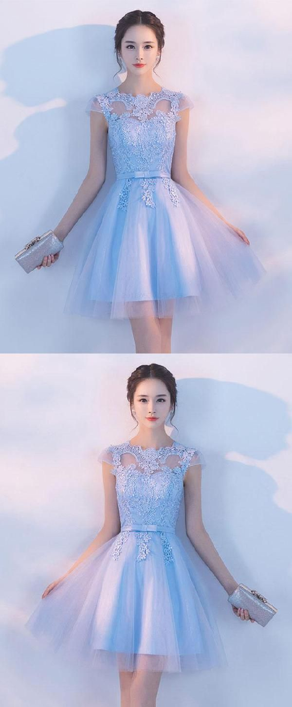 Light prom dresses lace prom dresses blue light blue prom dresses