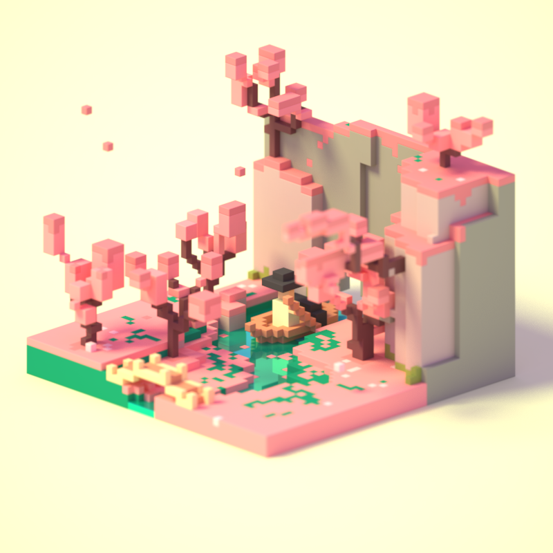 Pixel Tradtion On Behance Magicavoxel In 2019