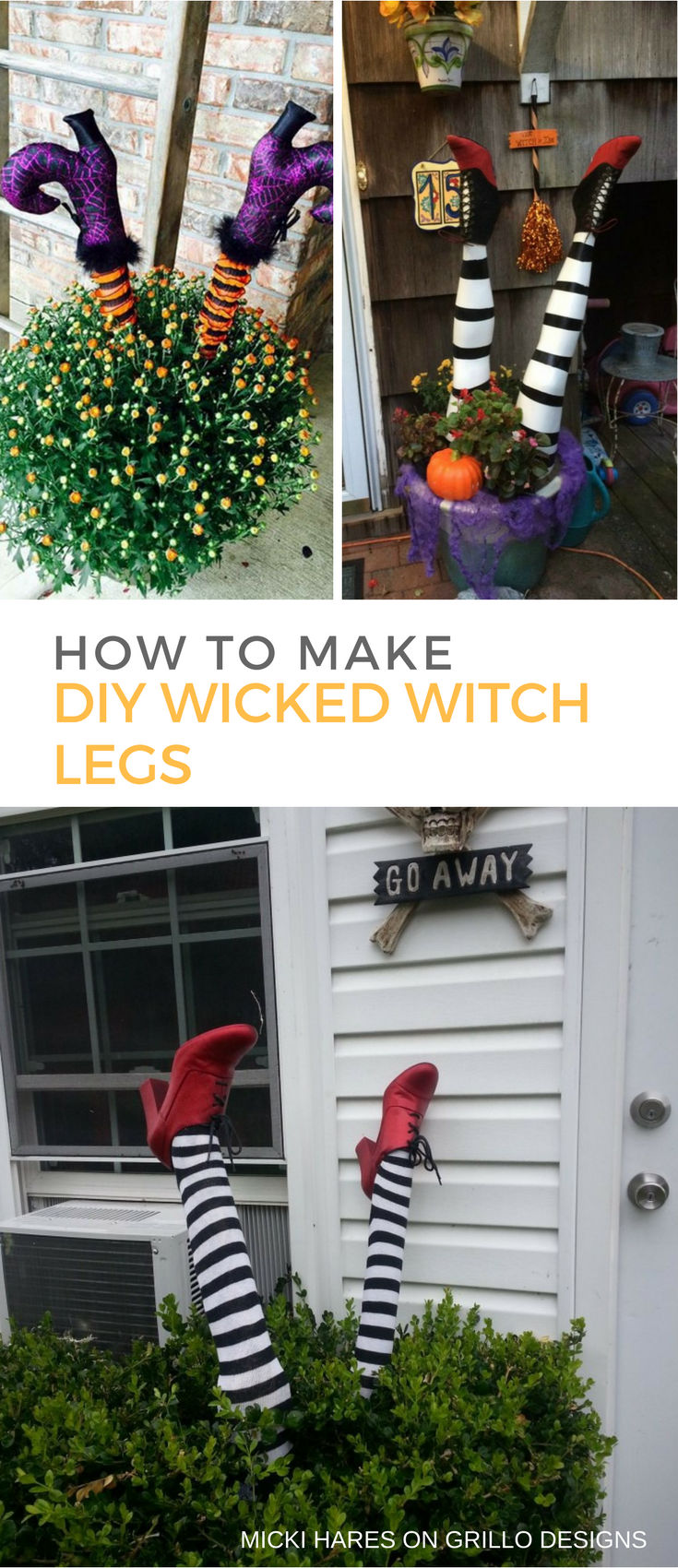 Window decor for halloween  how to make wicked witch legs  witch legs wicked and witches