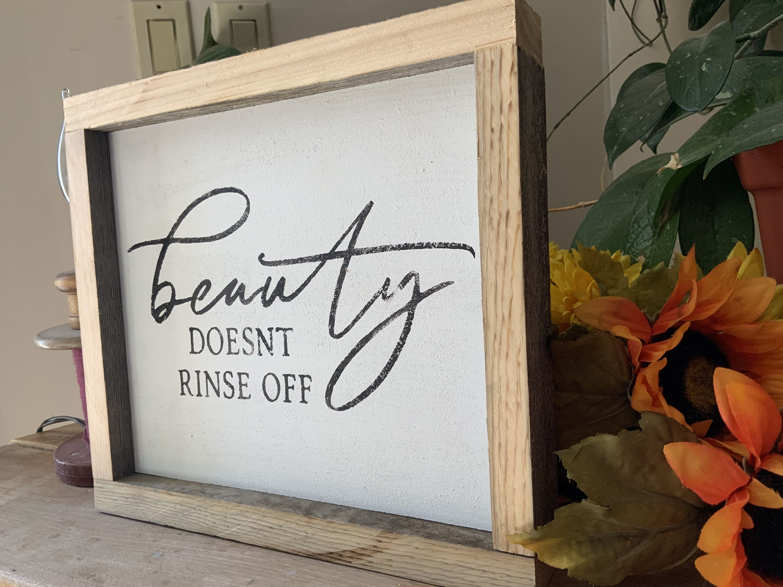 Photo of Schönheit lässt sich nicht abspülen / Badschilder / Rustikale Badezimmerdekoration / Country Wester …