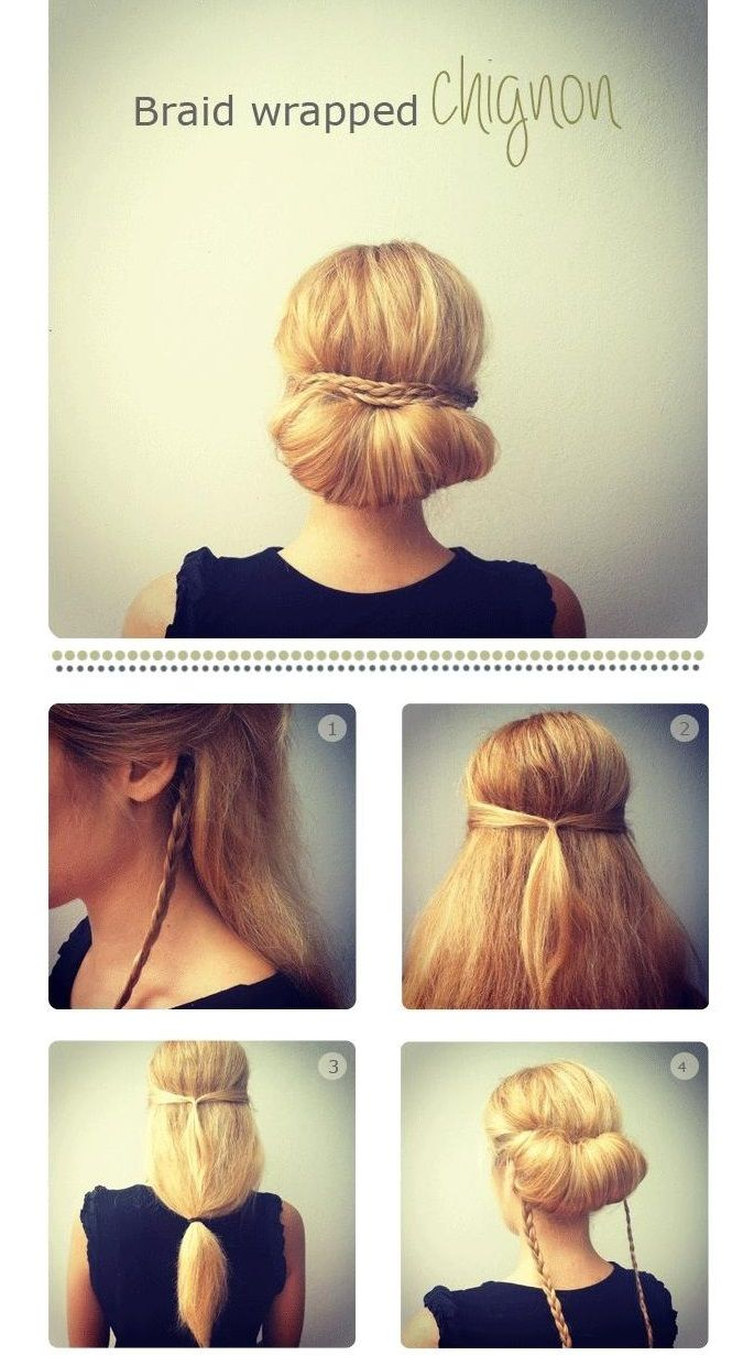 cute updos for long hair | beating laziness | pinterest